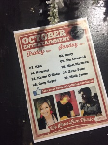October Live Music LINEUP